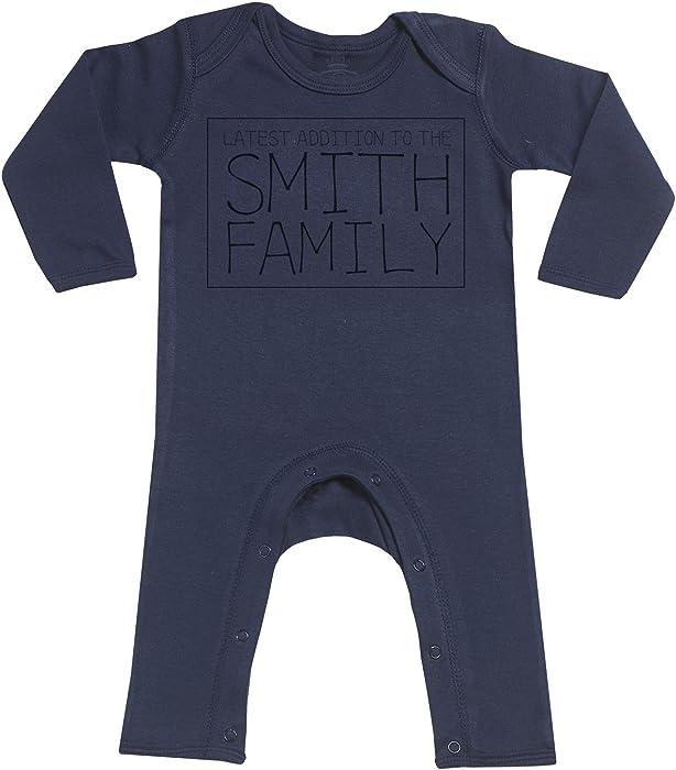 Spoilt Rotten Personalizados bebé Family Print Footless - Personalizados Peleles para bebé - Peleles para bebé Niño - Peleles para bebé Niña