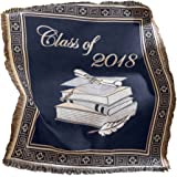 Class of 2018 Graduation Gift Tapestry Throw Blanket, High School, College
