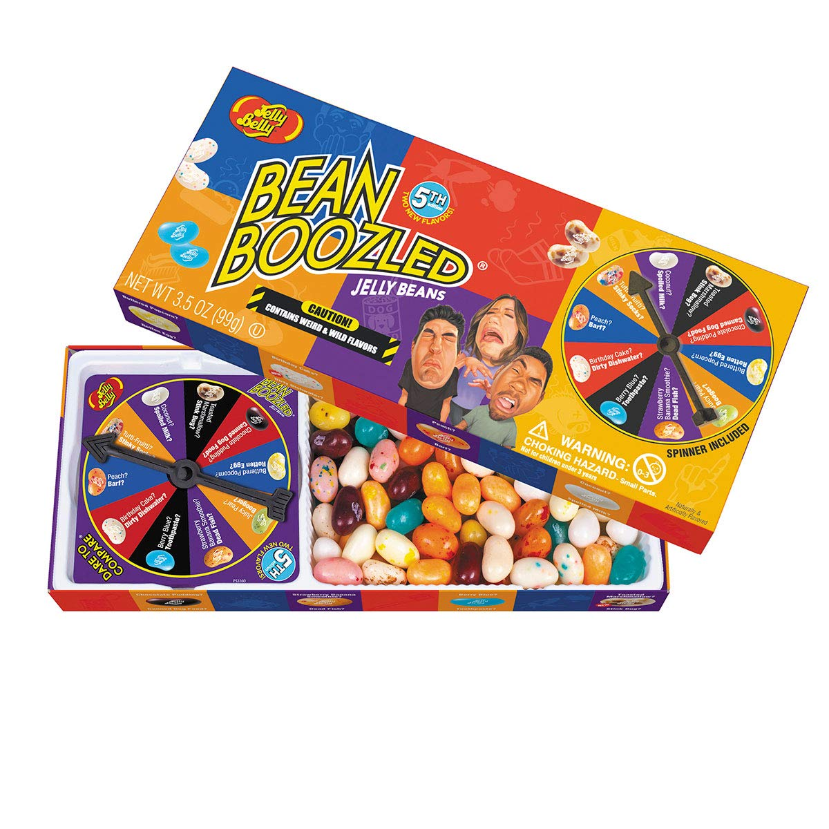 Jelly Belly BeanBoozled Jelly Beans Spinner Gift Box, 5th Edition, 3.5 Ounce (Pack of 1) by Jelly Belly
