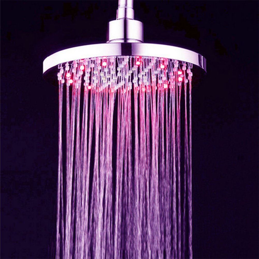 Led Shower Head Top Spray 3 Colour Changing Shower Head With