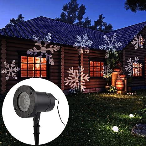 topchances christmas landscape lights projector christmas light moving white snowflake spotlight led light for holiday