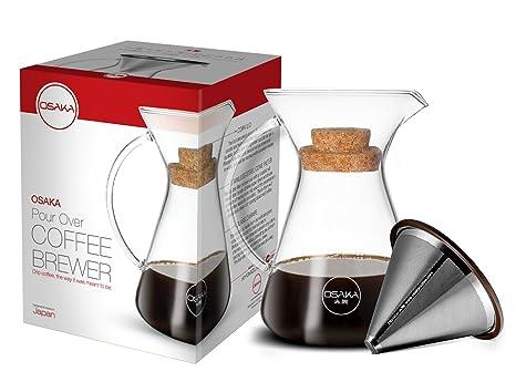 Amazon.com: Osaka cafetera antiderrame con asa, filtro ...
