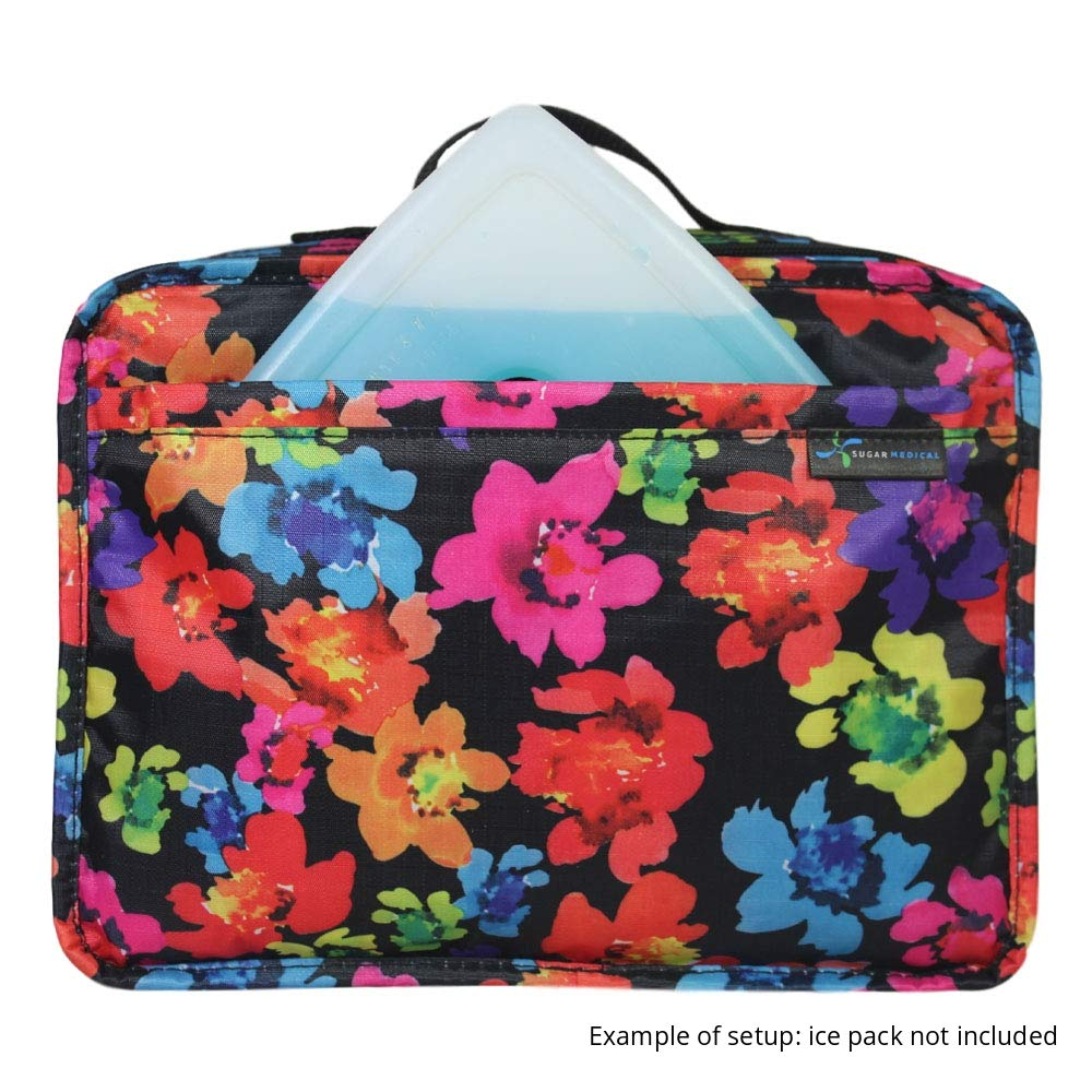 Sugar Medical Insulated Diabetes Travel Bag (Poppy) by Sugar Medical