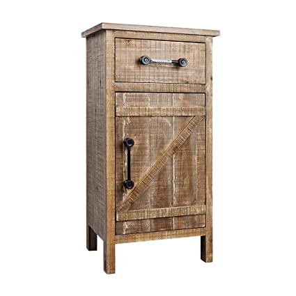 Rustic Wood Console Cabinet Distressed Farmhouse Wooden Kitchen Storage Cabinet Fully Assembled 33 H Side End Table