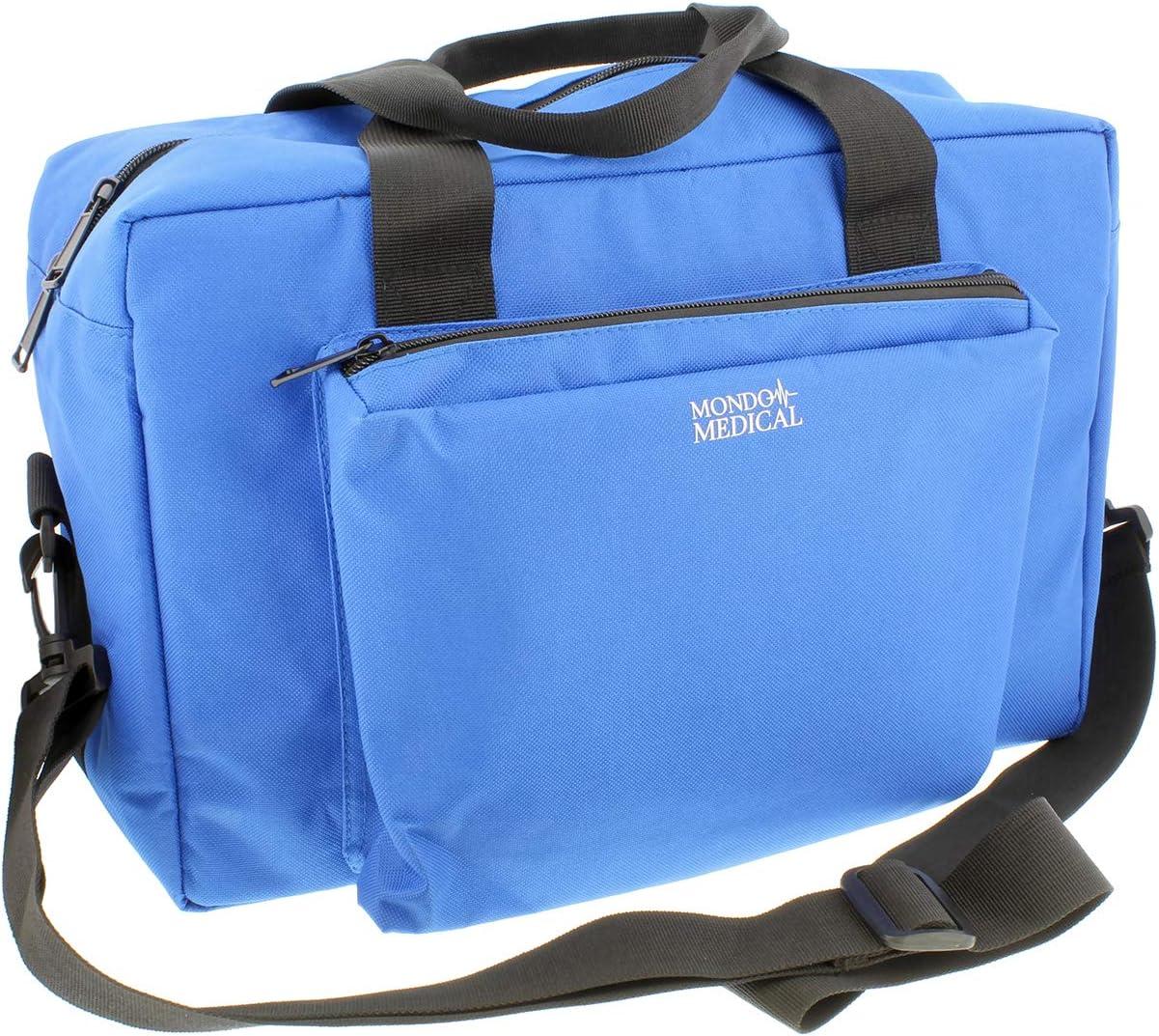 MonMed Blue Medical Bag - Nurse Accessories Nursing School Supplies, Medical Equipment Bag, Nurse Bag in Blue Nylon