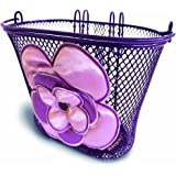 Basil Jasmin Girls Flower Bicycle Basket, Lilac/Soft Pink