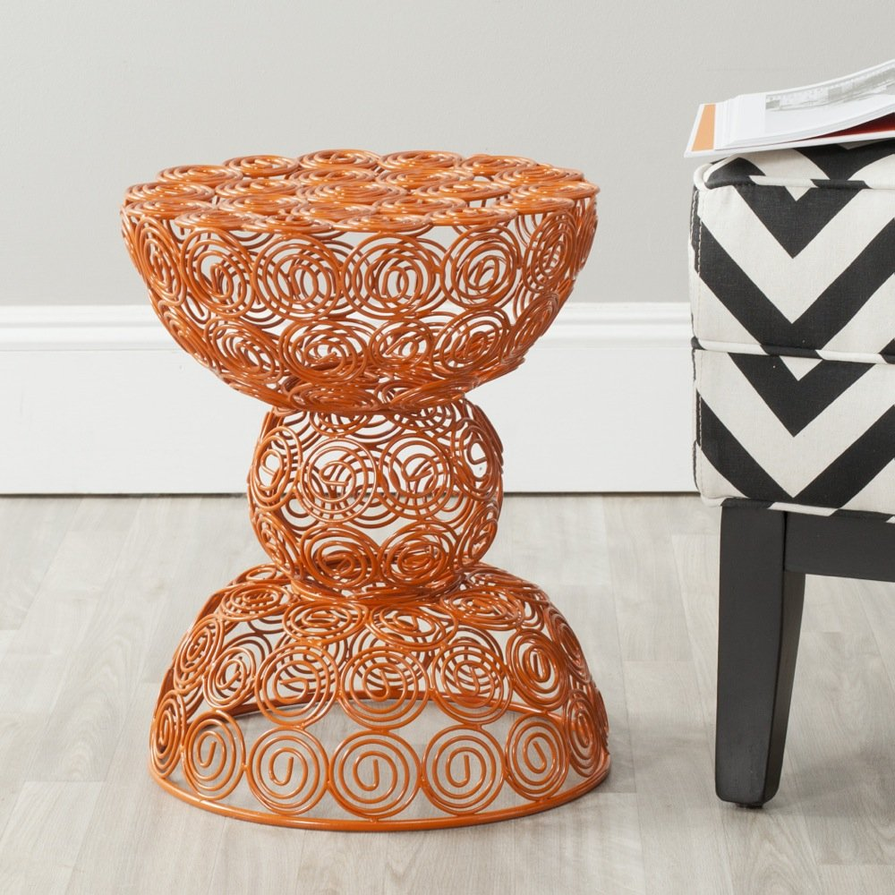 Safavieh Home Collection Lelia Orange Wire Stool