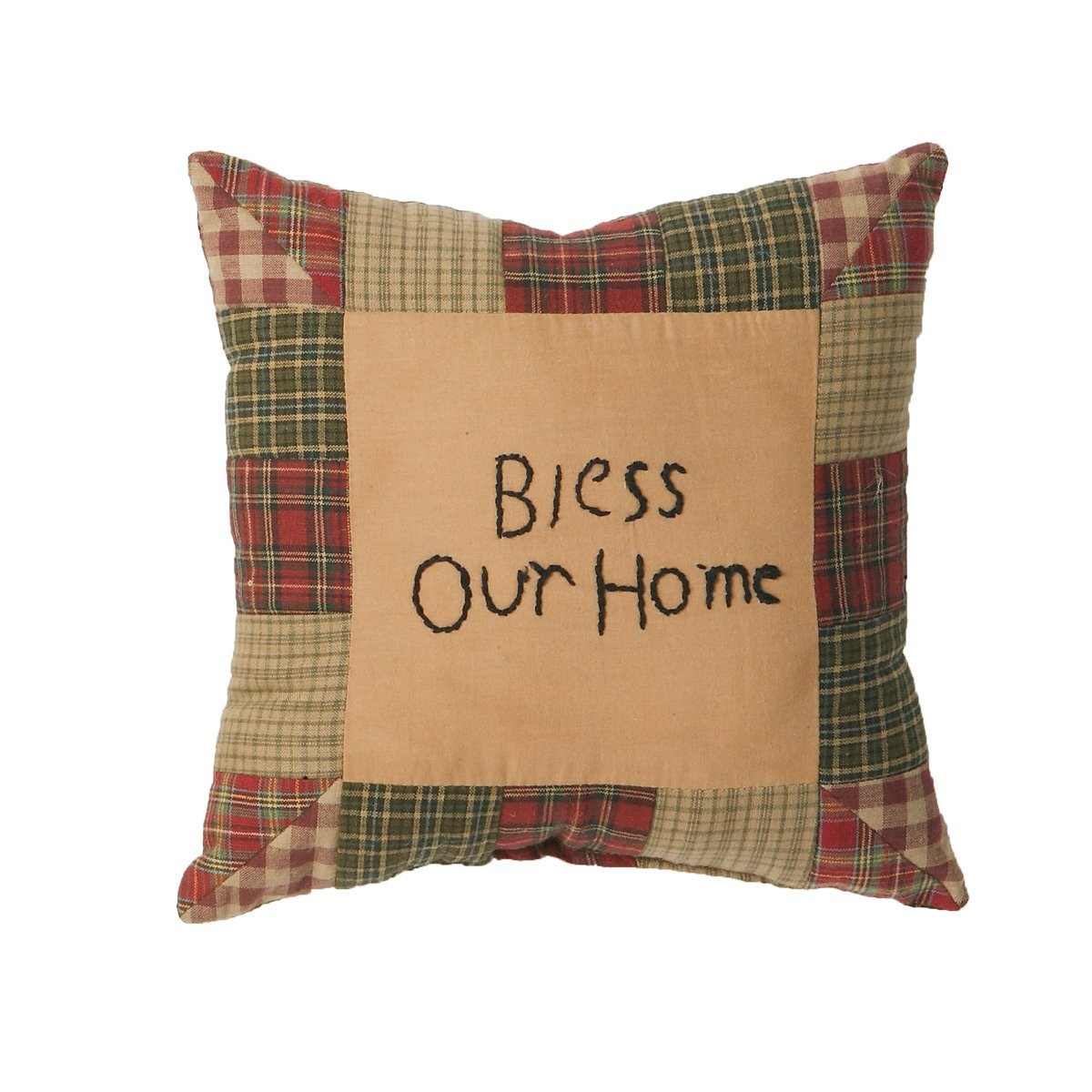 Tea Cabin Bless Our Home Pillow 10x10''