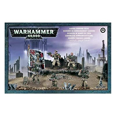 "Games Workshop 99120105073"" Cadian Command Squad Miniature: Toys & Games"