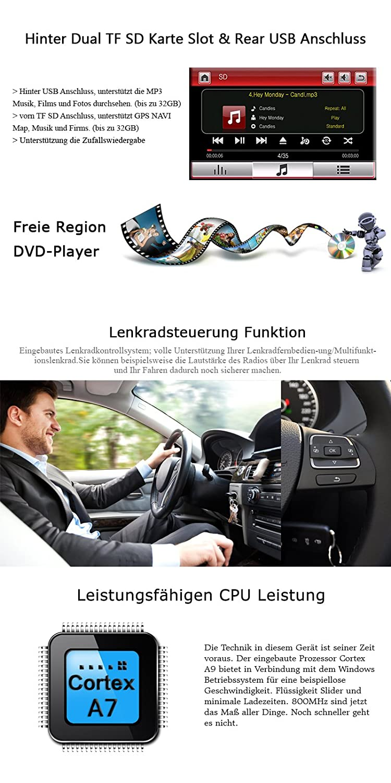 Was Ist Eine Tf Karte.A Sure 7 Inch Dvd Gps Car Radio Double Din Bluetooth Amazon Co Uk