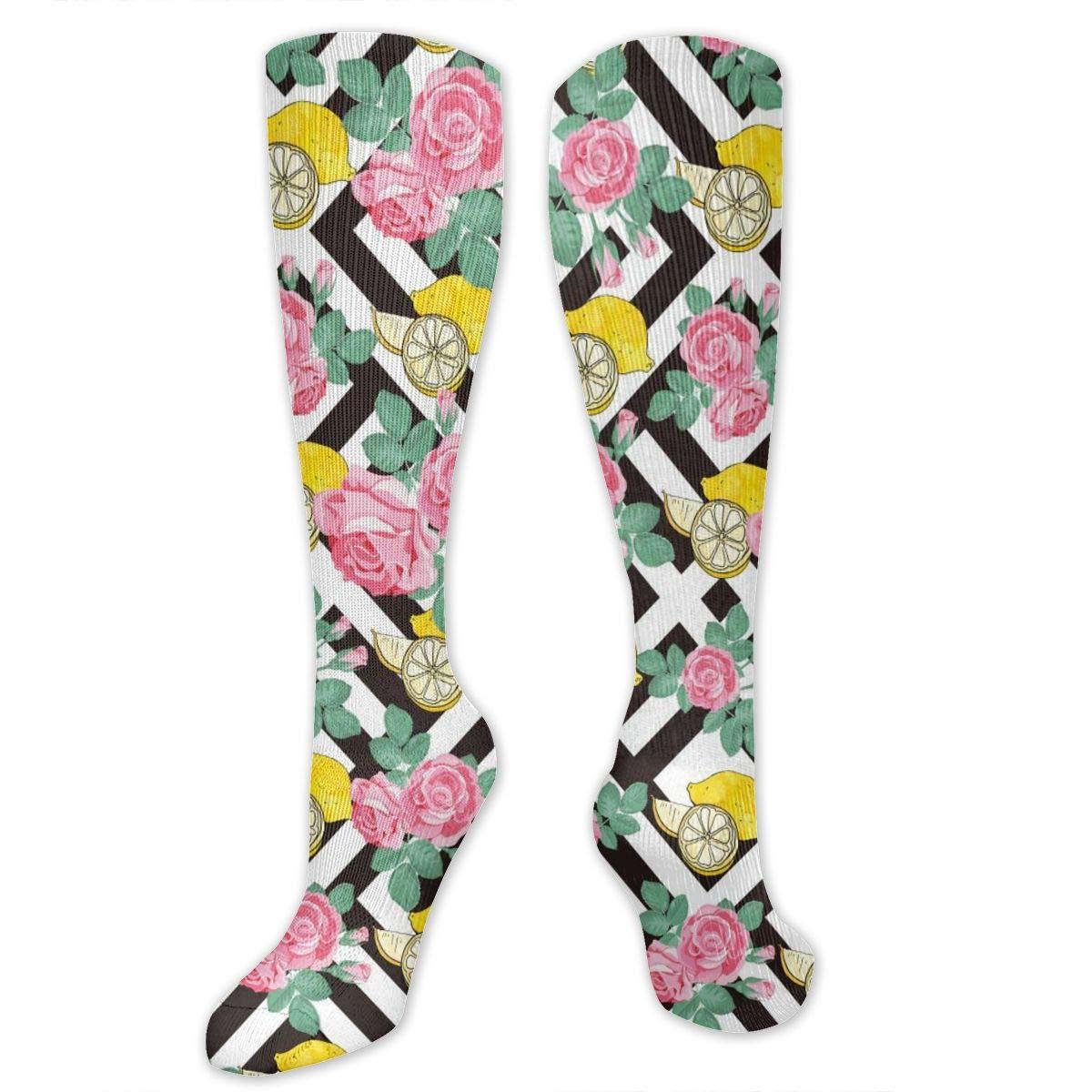 Personalized Lemon Slice Socks Long Knee High Boot Socks
