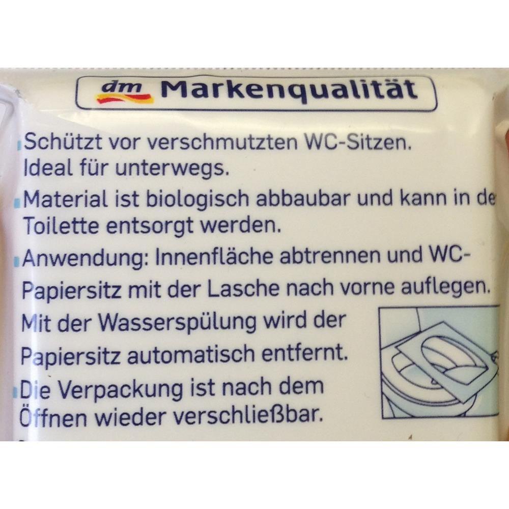 Sanft Sicher Wc Papiersitze Fur Unterwegs 10 Stk Amazon De