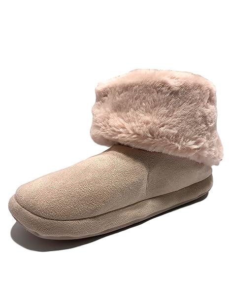 The City Outlet Co.Fur Bootie - Zapatillas Bajas Mujer: Amazon.es: Zapatos y complementos