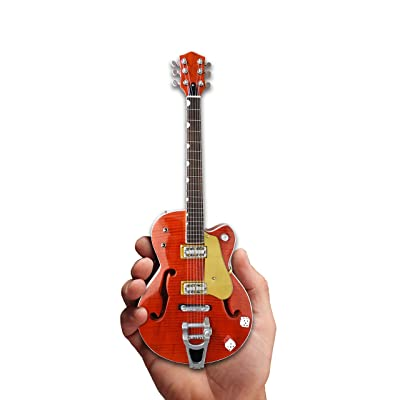 Brian Setzer Mini Guitar Nashville Orange Dice Hollow Body Mini Guitar Replica Collectible: Musical Instruments