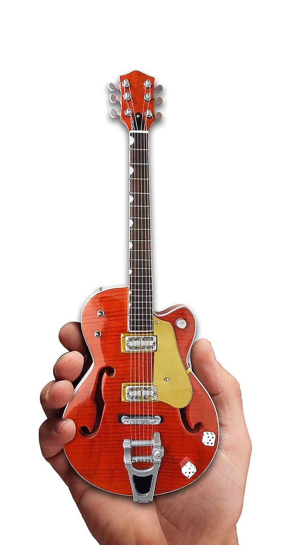 Brian Setzer Mini Guitar Nashville Orange Dice Hollow Body Mini Guitar Replica Collectible