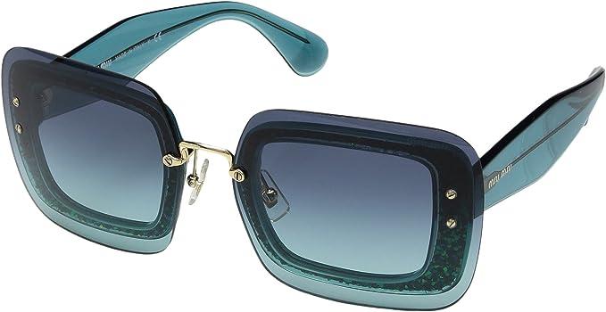 Gafas de Sol Miu Miu REVEAL SMU01R TURQUOISE/BLUE GREEN ...