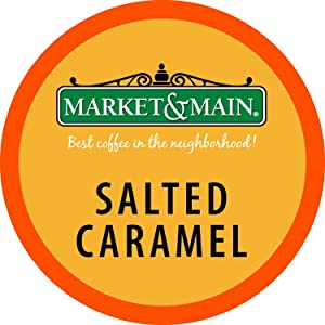 Market & Main One Cup, Salted Caramel, Compatible with Keurig K-cup Brewers, 80 Count