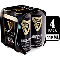 Guinness Draught Beer Can, 440ml (Pack of 4)