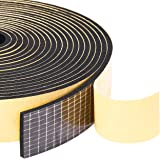 "Yotache Adhesive Weather Stripping 2 Rolls 1"" W X 1/8"" T, Neoprene Foam Weatherstrip Tape for Automotive, 33 Ft Length (2 X 1"
