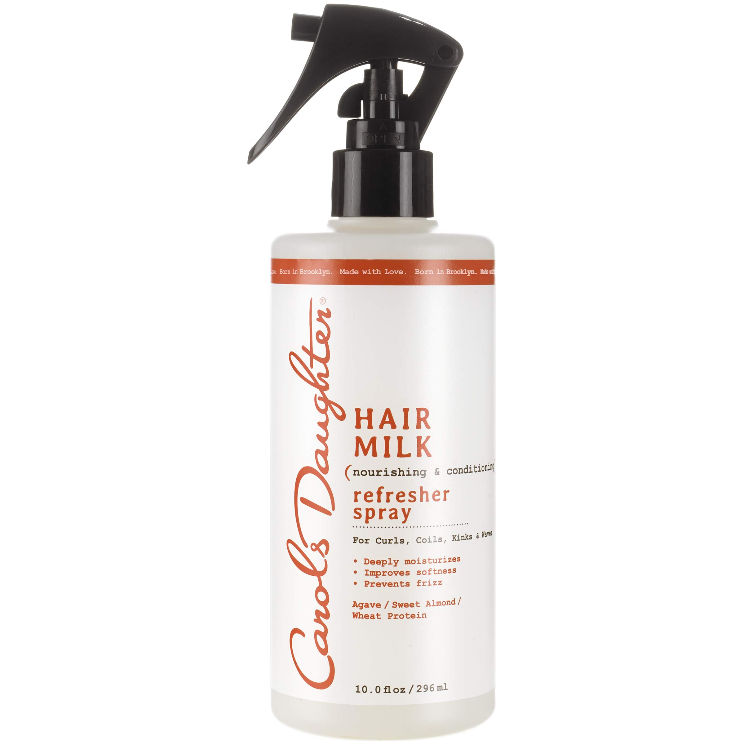 Curly Hair Products by Carol's Daughter, Hair Milk Curl Refresher Spray For Curls, Coils and Waves, with Agave, Sweet Almond and Wheat Protein, Hair Refresher Spray, 10 Fl Oz (Packaging May Vary) by Carol's Daughter