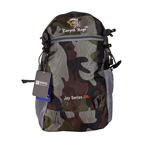 5f6f9aeac7f Image Unavailable. Image not available for. Colour  Royal Bags PU Coated  Grey Camping Rucksack Bag