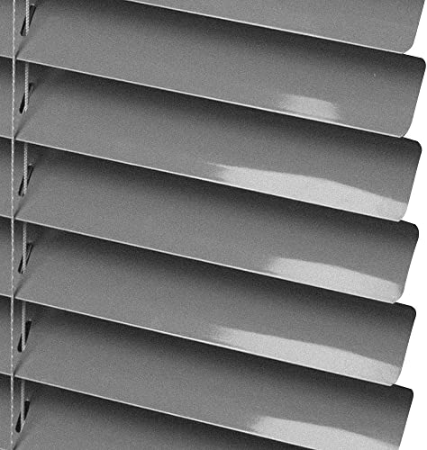 PASSENGER PIGEON Horizontal Window Blinds, Premium Blackout 1 Inch Slats, Silver-Custom Size Please Contact Customer Service for Price