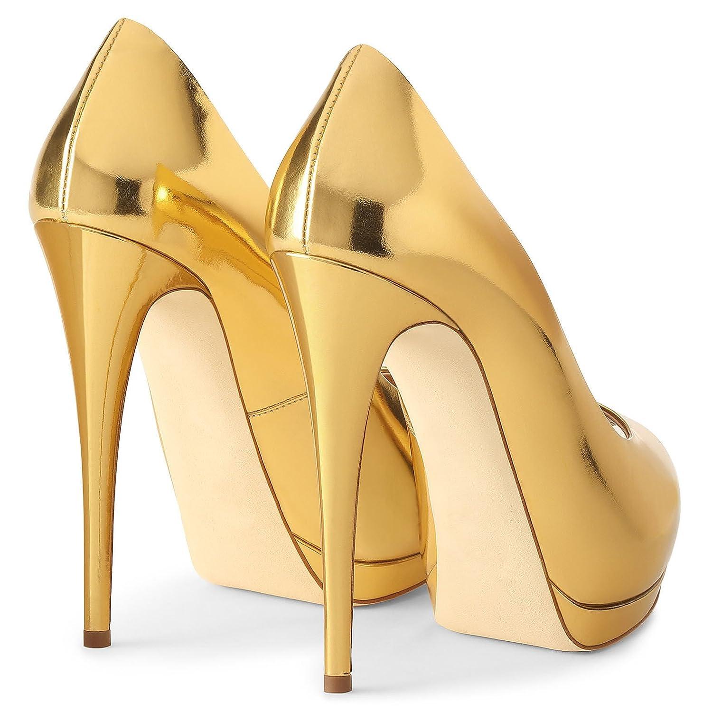 XUE Damenschuhe PU Frühling Sommer wies Schuhe Heels grundlegende grundlegende grundlegende Pumpe Stiletto Heel Hochzeit Party & Abend Kleid formelle Business-Arbeit (Farbe   E, Größe   41) B07DQGWZ1P Tanzschuhe Direktgeschäft 75af7d