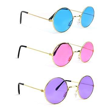 Amazon.com: Skeleteen John Lennon Hippie Gafas de sol - Rosa ...