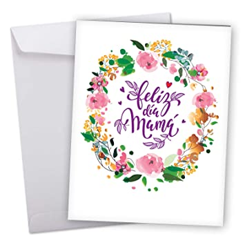 Amazon Com Jumbo Feliz Dia Mama Card Spanish Happy Mother S Day