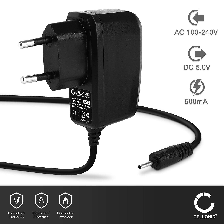 CELLONIC® Cargador - 1.5m (0.5A / 500mA) Compatible con Nokia 105/108 / 3110/5230 / 6210/6300 / 8800 / N8 / N70 / N95 / E71 / ASHA 300 (5V - 6V) Cable ...