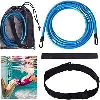 Lifella - Cinturón de entrenamiento de natación para nadar o nadar, herramientas de natación para nadar a distancia, adultos, niños, Pro, aficionado (correa de sumidero: 2/3/4M)