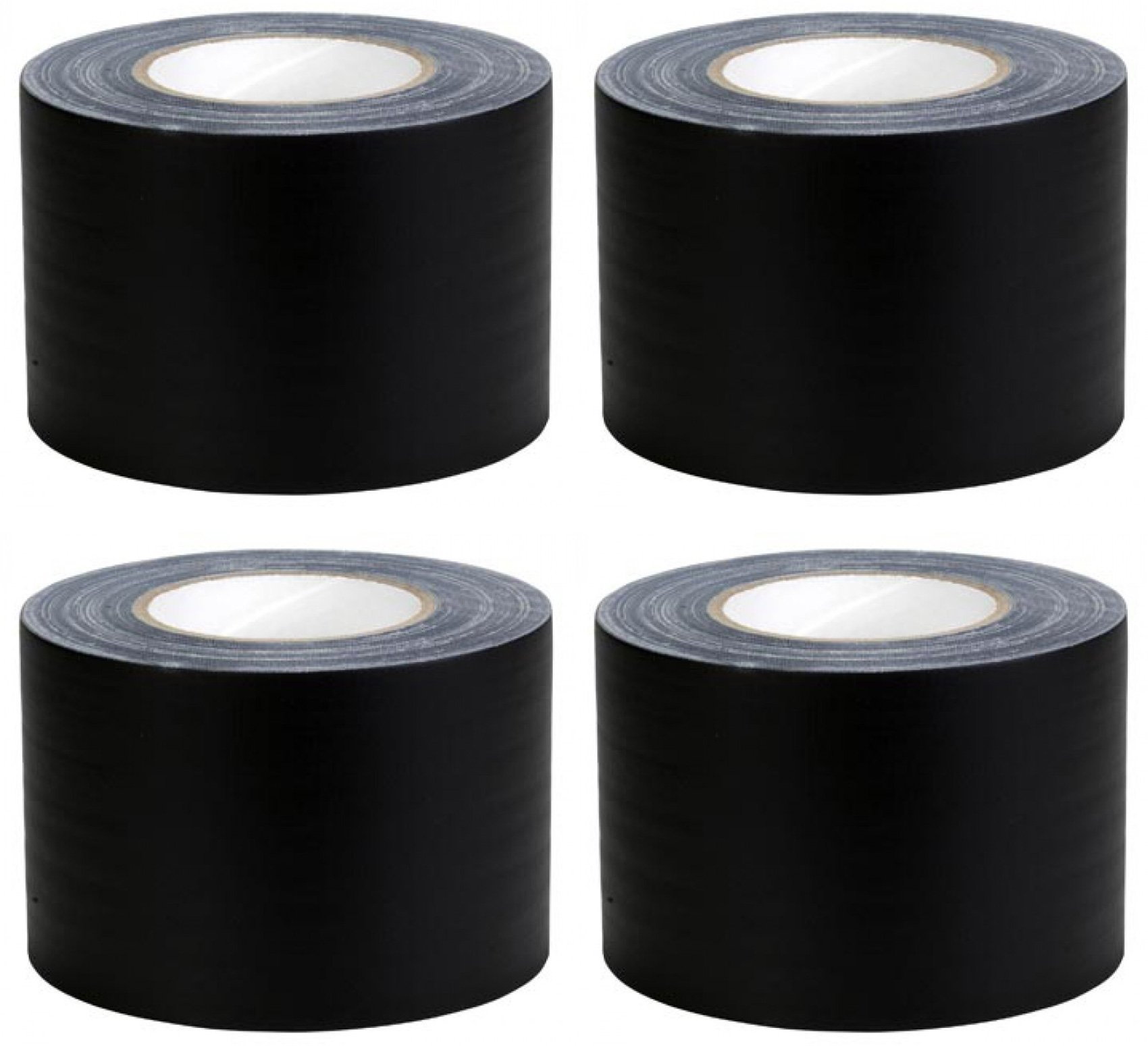 (4) ADJ TAPE-4B 60 Yards 4 Black Cable Management Stage/Gaffers Tape No Residue