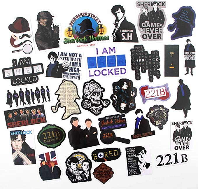 Details about  /Wall Stickers Vinyl Decal Sherlock Holmes Retro Guy With Pipe z2014