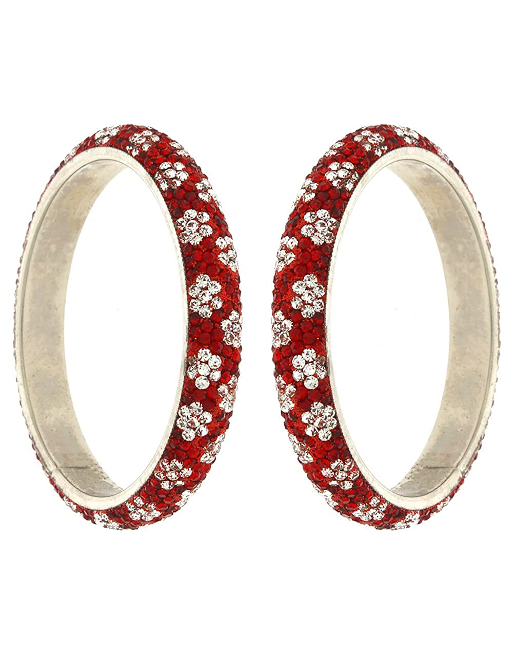 Anuradha Art Red Colour Classy Trendy Stylish Ethnic Bangles Set for Women//Girls