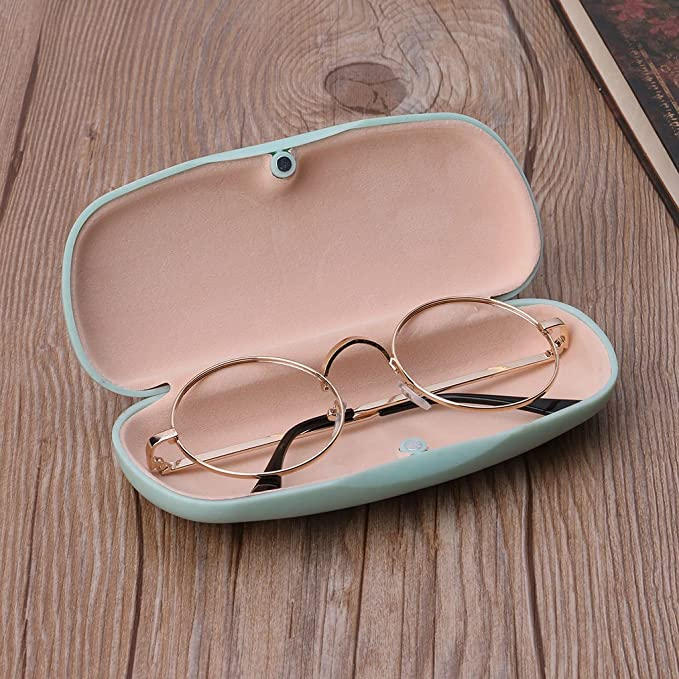 f52a695de93 Hacloser Plastic Glasses Box Fresh Simple Style Spetacles Protector Portable  Hard Eyewear Case (Pink)  Amazon.co.uk  Kitchen   Home