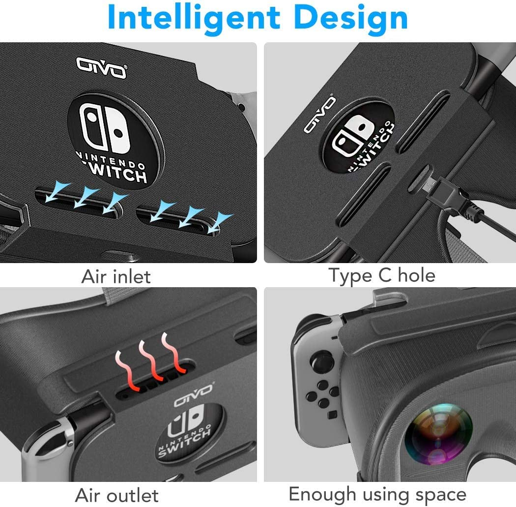 VR Headset for Nintendo Switch, OIVO 3D VR (Virtual Reality) Glasses, Labo Goggles Headset for Nintendo Switch: Electronics