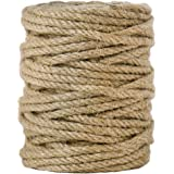 Tenn Well 5mm Jute Twine, 100 Feet 4Ply Twisted Heavy Duty and Thick Twine Rope for Gardening, Crafting, Packing, Bundling an