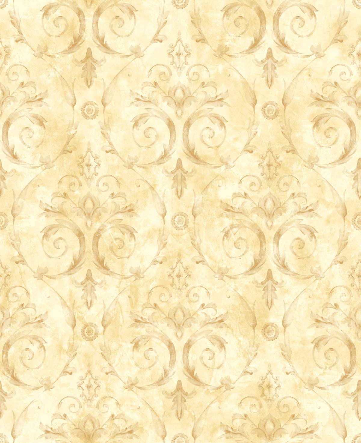 Gold Wallpaper Damask Floral Wallpaper Victorian Wallpaper Vintage