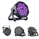 72W Black Light DJ Lights UV Blacklight Stage Spotlight 36 LEDs Auto Lighting Voice Control for Party Wedding Disco Club with Control