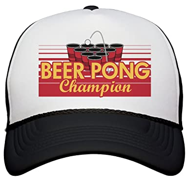 06d132be4d7 Amazon.com  Beer Pong Champ  Snapback Trucker Hat  Clothing