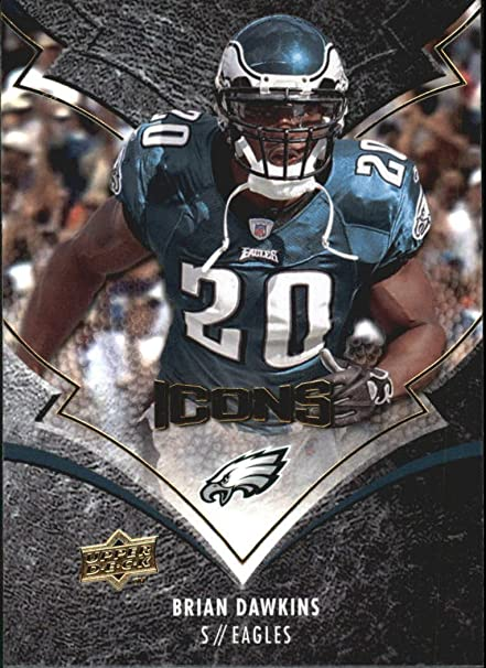 74 2008 Card Collectibles Sports Amazon's At Deck Dawkins Upper Icons Store Football - Brian