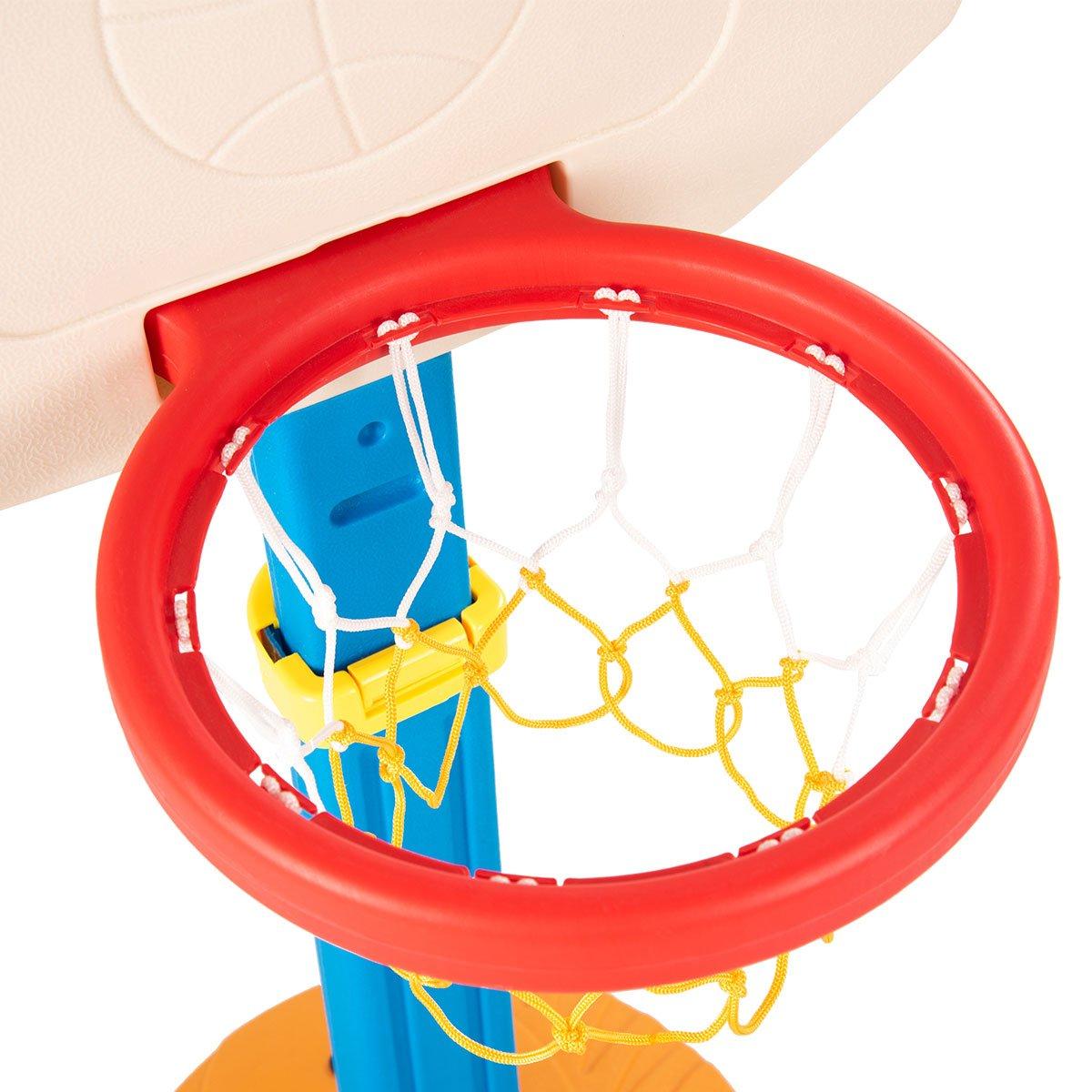 COSTWAY Kids Basketball Set Adjustable Basketball Stand Hoop Net Backboard Set Indoor Outdoor Toy Game Base with Handle 160CM