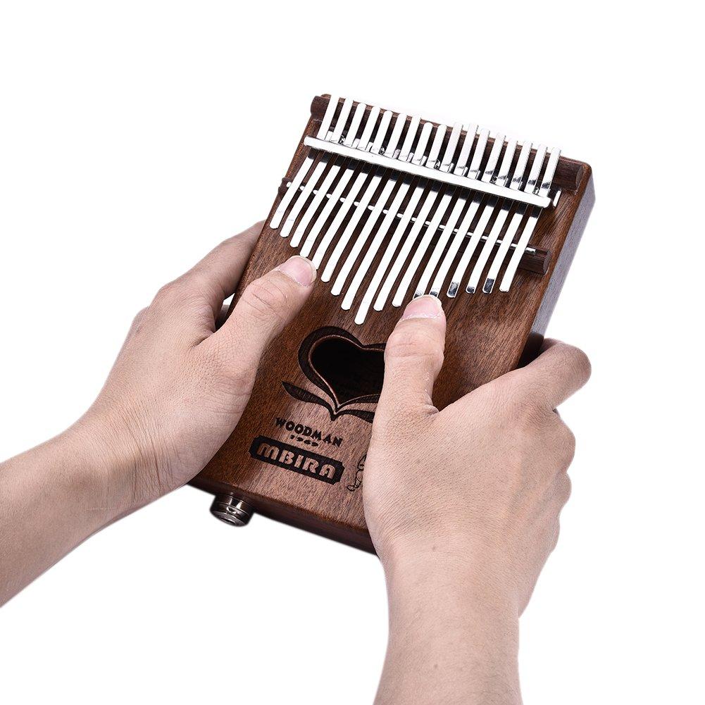 Kalimba, 17 llaves Pulgar Piano juguete Música Note en el teclado inmediatamente Juego Bar con afinador de herramientas y ordenador Texto verfügung ...