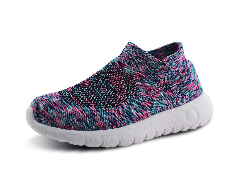 Jabasic Kids Walking Shoes Boys Girls Breathable Slip On Knit Sock Sneakers (Multicolor,1) by Jabasic (Image #1)