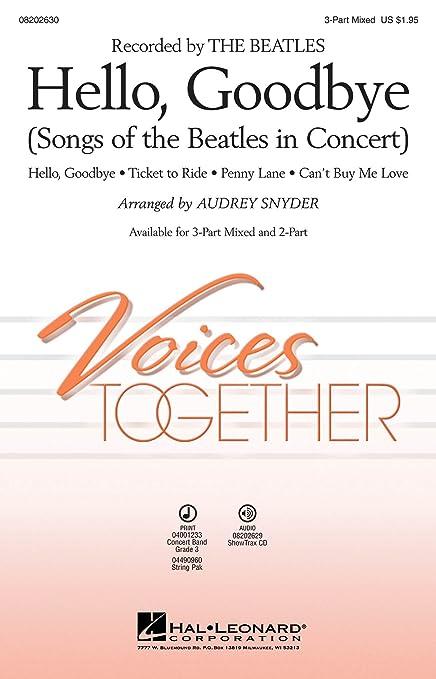 Amazon com: Hello, Goodbye: Songs of the Beatles in Concert
