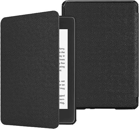 Oferta amazon: Fintie SlimShell Funda para Kindle Paperwhite (10.ª generación, 2018) - Carcasa Fina y Ligera de Cuero Sintético con Función de Auto-Reposo/Activación, Negro