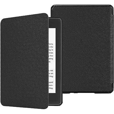 Fintie SlimShell Funda para Kindle Paperwhite (10.ª generación, 2018) - Carcasa Fina y Ligera de Cuero Sintético con Función de Auto-Reposo/Activación, Negro