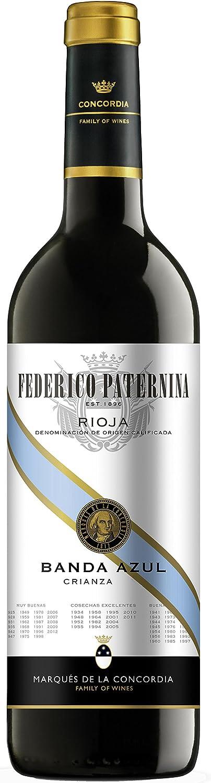 Federico Paternina Rioja Crianza Banda Azul 0 75 L Amazon Es Alimentación Y Bebidas