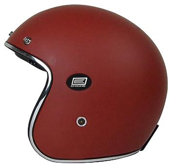Origine Helmets 202587027100103 Sirio Solid Matt Flat Casco Jet de fibra de carbono, rojo,