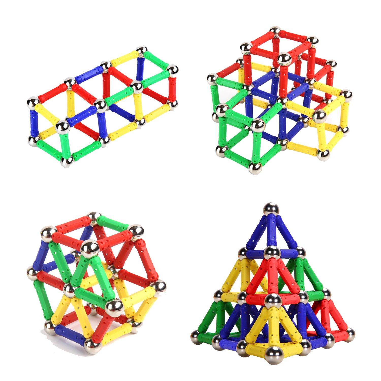 Amazon Veatree 107 Pieces Puzzle Magnetic Building Blocks